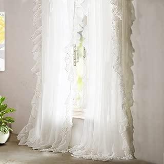 Best gauze ruffle curtains Reviews