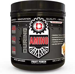 Driven Amino-BCAA Enhanced with Glutamine- Aids in Muscle Recovery, Increase Muscle Protein Synthesis, and Improve Lean Body Mass-Perfect 2:1:1 BCAA Ratio (Fruit Punch)