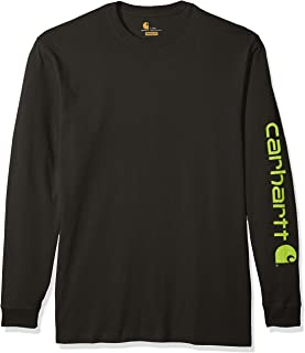 Carhartt Men's Big & Tall Signature Logo Long Sleeve T Shirt K231