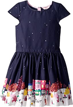 Printed Border Party Dress (Toddler/Little Kids/Big Kids)