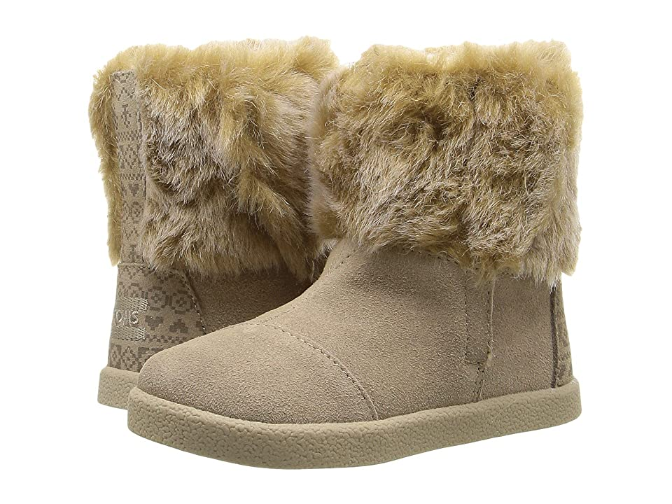 TOMS Kids Nepal Boot (Infant/Toddler/Little Kid) (Oxford Tan Suede/Faux Fur) Girls Shoes