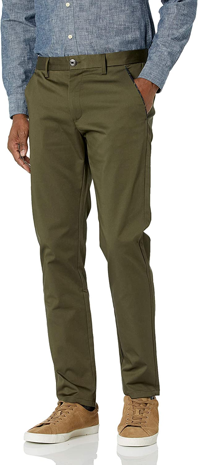 Suslo Couture Men's Cotton Stretch Slim Fit Chino Pants