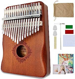 $23 » Kalimba Thumb Piano 17 Keys Finger Piano Portable Mbira Sanza Musical Instrument with Tune Hammer and Study Instruction Gi...