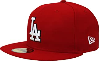 New Era....... 59Fifty Hat Los Angeles Dodgers MLB Baseball Red Fitted Headwear Cap