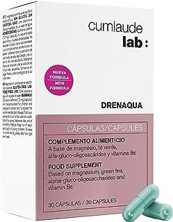 Cumlaude Drenaqua - Complemento Alimenticio Diurético para la Retención de Líquidos - con Té Verde, Prebióticos, Magnesio y Vitamina B6 - 30 Cápsulas