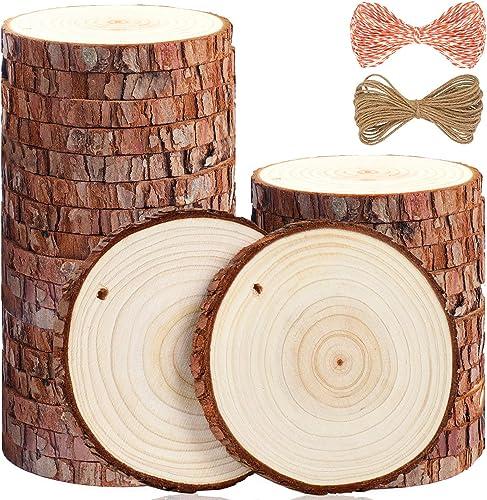 10 Madera Gruesa árbol cortado formas 2 1//4 de pulgada la madera inacabada hecho En Usa