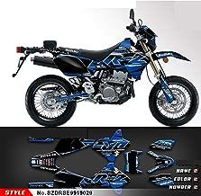 Kungfu Graphics Custom Decal Kit for Suzuki DRZ400 SM DRZ400SM Supermoto 1999 2000 2001 2002 2003 2004 2005 2006 2007 2008 2009 2010 2011 2012 2013 2014 2015 2016 2017 2018 2019, Black