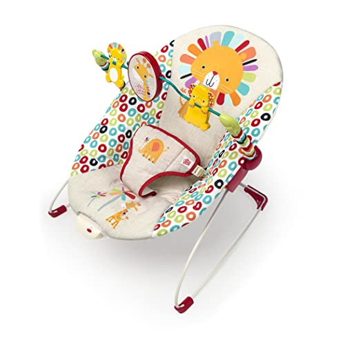 Best 5-in-1 Colorful infant bouncer with soothing vibration by Bright Starts.