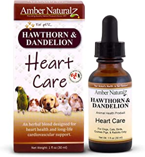 Amber NaturalZ - Hawthorn & Dandelion - Heart Care - for Petz - 1 Ounce