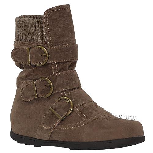 e7a8df2766ba MVE Shoes Women s Fashio Faux Leather Ankle Bootie - Combat Boots for Winter