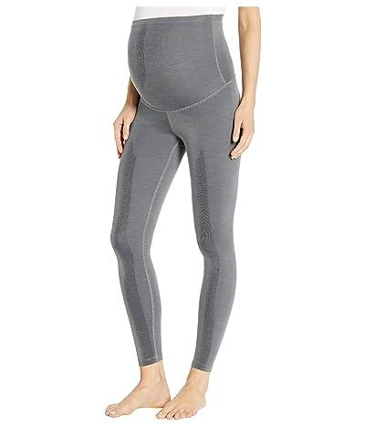 Beyond Yoga Maternity Heather Rib Midi Leggings (Gray Heather) Women