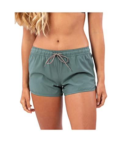 Rip Curl Surf Essentials II 3 Beach Shorts (Olive) Women