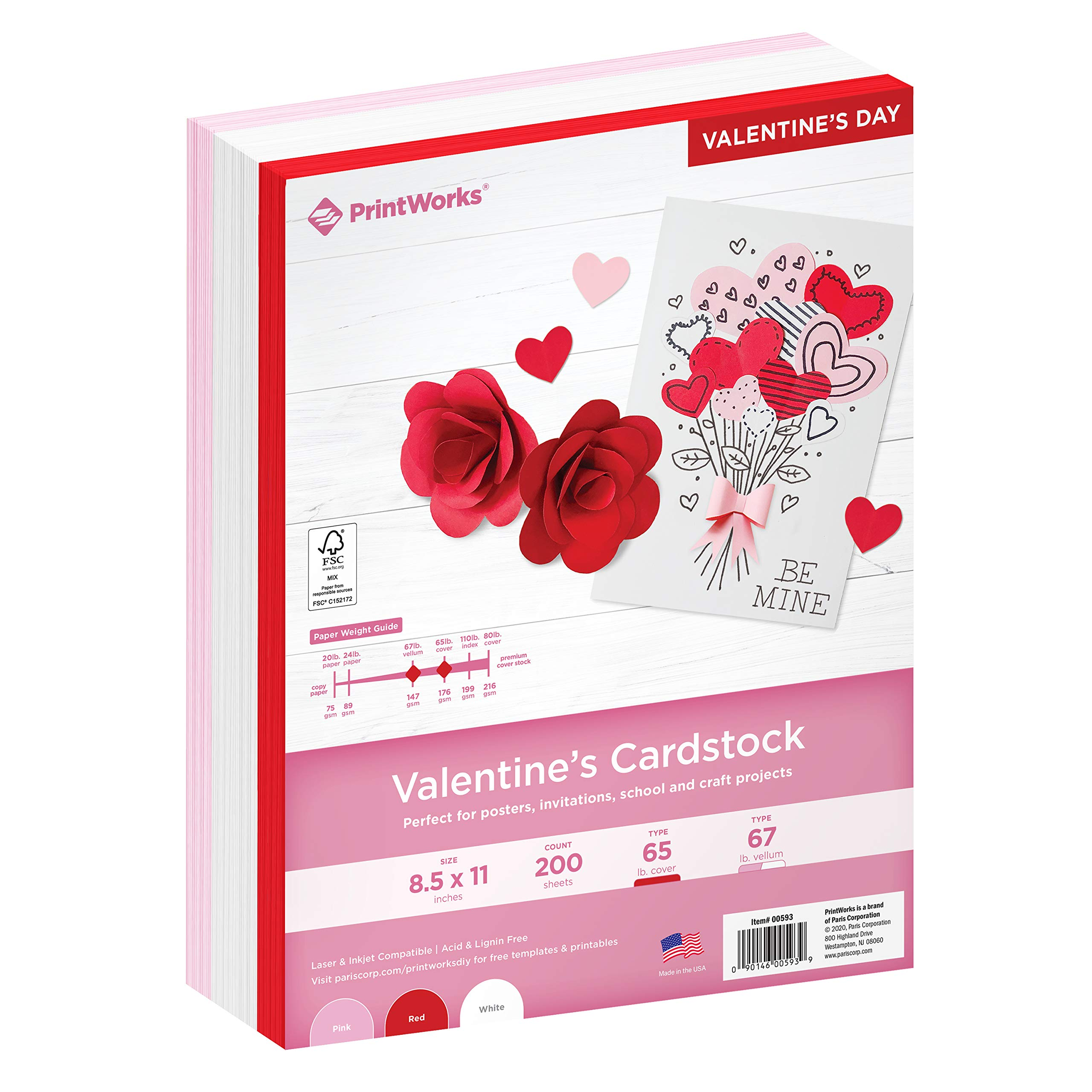 40 PAPER//CARD PINK WHITE RED LOVE HEART BUNDLE SCRAPBOOK EMBELLISHMENTS CRAFTS