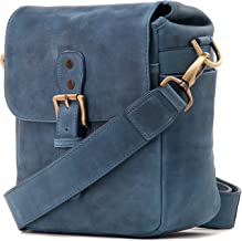 MegaGear Torres Mini Genuine Leather Camera Messenger Bag for Mirrorless, Instant and DSLR Cameras