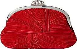 Carly Satin Rouched Clutch Pouch