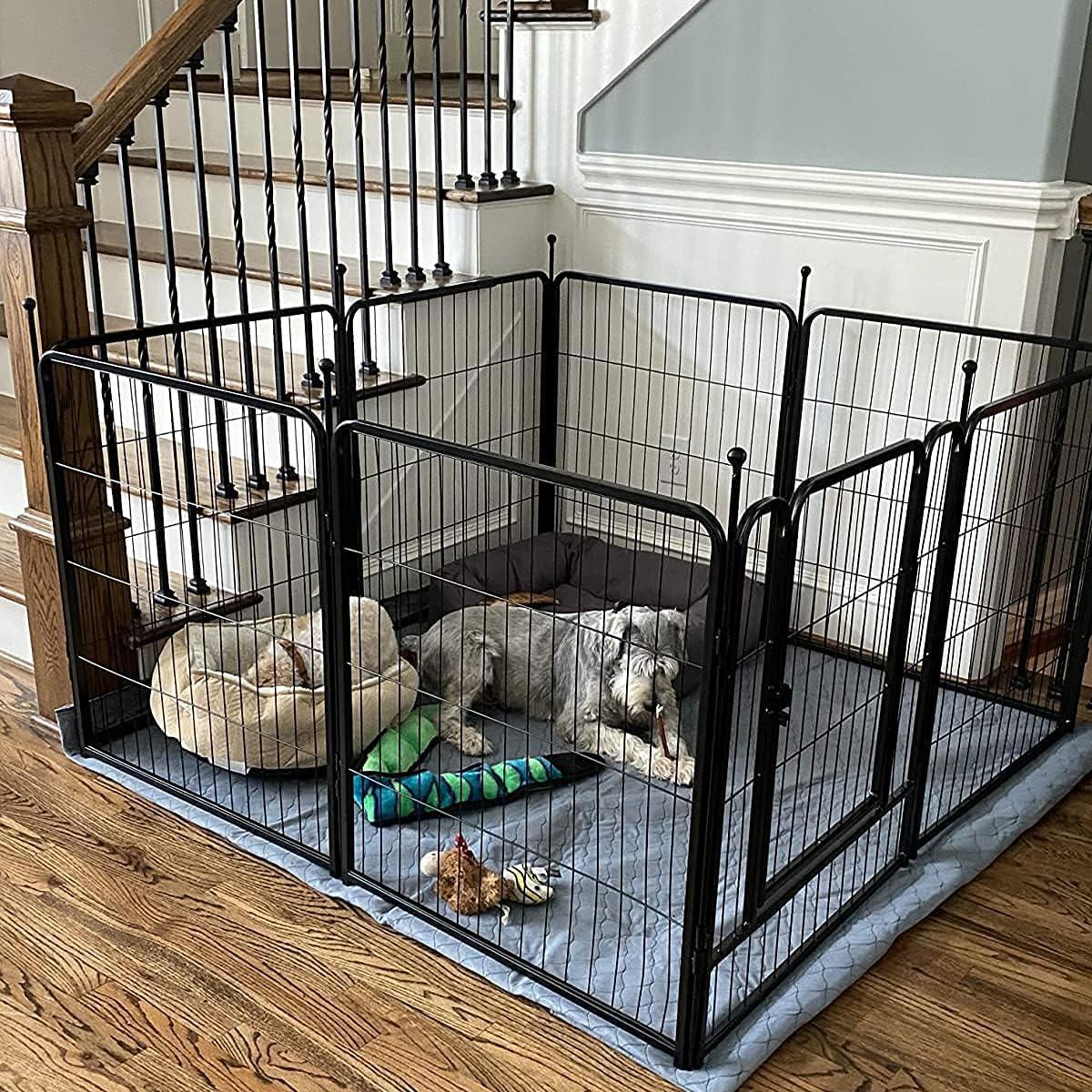 Buy FXW Dog Playpen Outdoor, 20/20/20/20/420 Panels Dog Pen Indoor ...