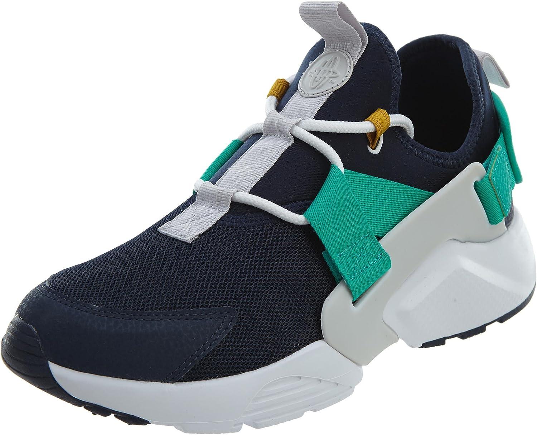 Nike Air Huarache City Low Women's Running Shoes Obsidian/White-Vast Grey ah6804-401