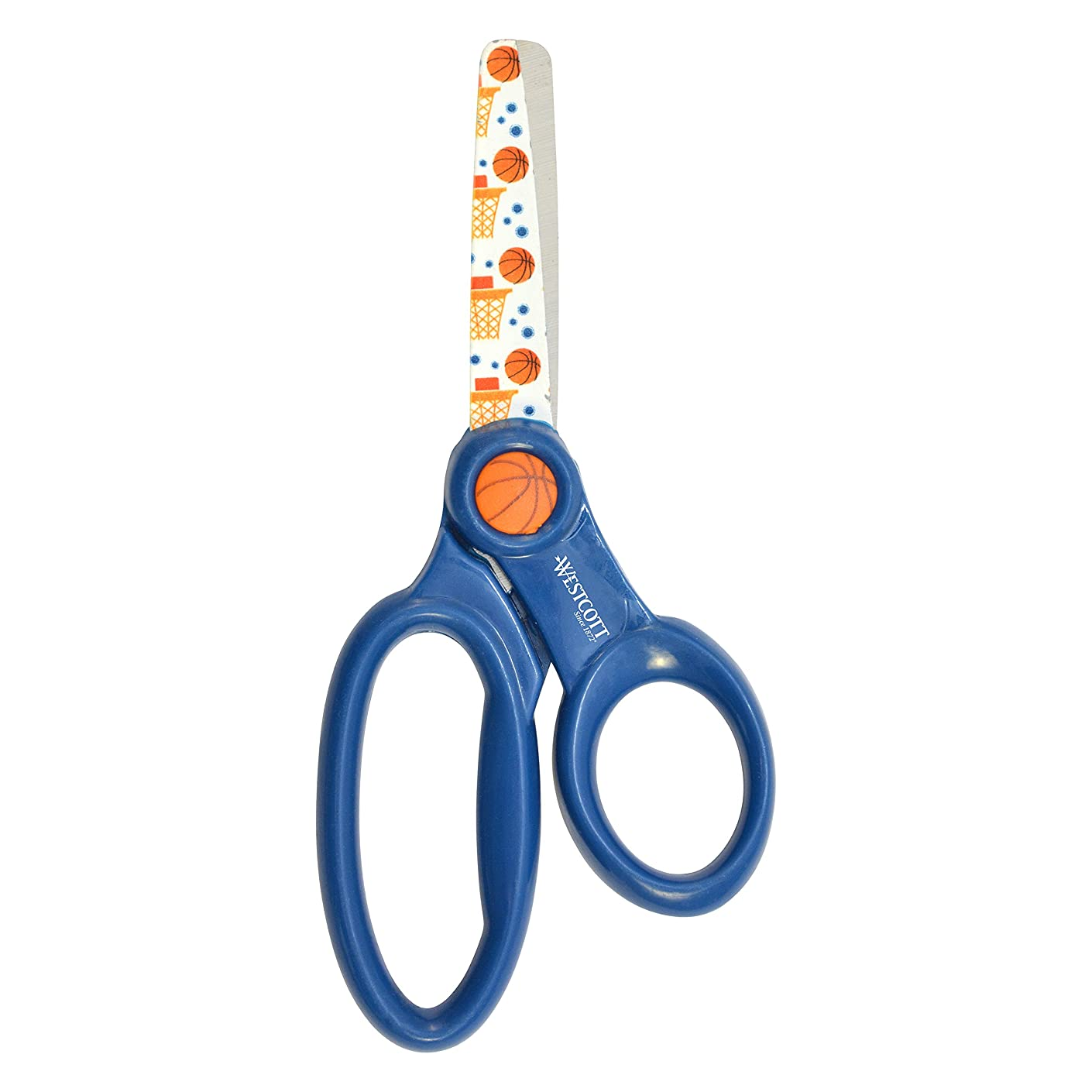 Westcott Kid's Basketball Sports Scissors, 5-Inch, Blunt (16859)