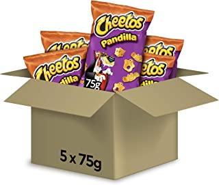 Cheetos Pandilla - Producto de aperitivo frito con sabor a queso - 75 g - [pack de 5]