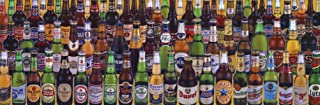 Culturenik Beers of The World Alcohol Beer Bottles Collage Novelty Drinking Poster Print 12x36