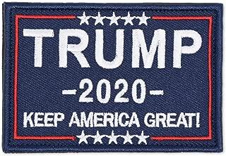 ELLEWIN Trump Tactical Morale Patch Keep America Great 2020 Hook and Loop Patch