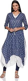 BIBA Women's Asymmetrical Hemline Kurta