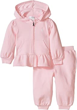 Ralph Lauren Baby Fishcale Terry Hook-Up Fleece Set (Infant)
