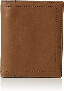 Fossil men Passport Case, Cognac, One Size