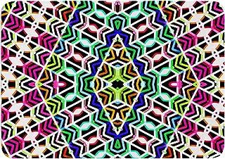17 by 24-Inch Kess InHouse Dawid ROC Sweet Pastel Lines 3 Multicolor Magenta Memory Foam Bath Mat 17 X 24
