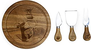 Picnic Time 879-03-512-023-13 Disney/Pixar Ratatouille Brie Acacia Wood Cheese Board Set with Tools, 7-Inch