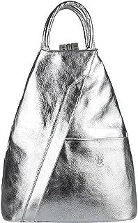 OBC Only-Beautiful-Couture OBC Made in Italy Damen echt Leder Rucksack Lederrucksack Tasche Schultertasche Ledertasche Daypack Backpack Handtasche Nappaleder