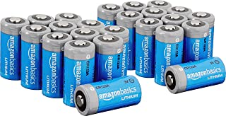 Amazon Basics, Lithium CR123a 3 Volt Batteries, 10-Year Shelf Life, Easy to Open Value Pack, (Pack of 24)