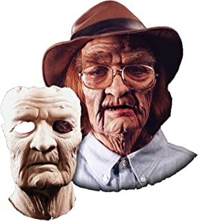 UHC Men's Old Man Prosthetic Face Theme Party Latex Halloween Costume Mask