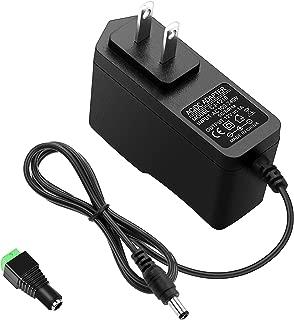 ALITOVE DC 12V 1A Power Supply 1000mA 12W AC/DC Adapter, 100~240V AC to DC 12 Volt 1 Amp 0.6A Converter with 5.5 x 2.5mm 2.1mm Plug for LED Strip Light CCTV Security Camera DVR NVR Surveillance System