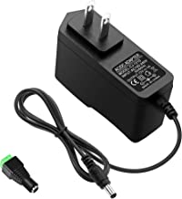 ALITOVE DC 12V 1A Power Supply 1000mA 12W AC/DC Adapter, 100~240V AC to DC 12 Volt 1 Amp 0.6A Converter with 5.5 x 2.5mm 2.1mm Plug for LED Strip Light CCTV Security Camera DVR NVR Surveillance System