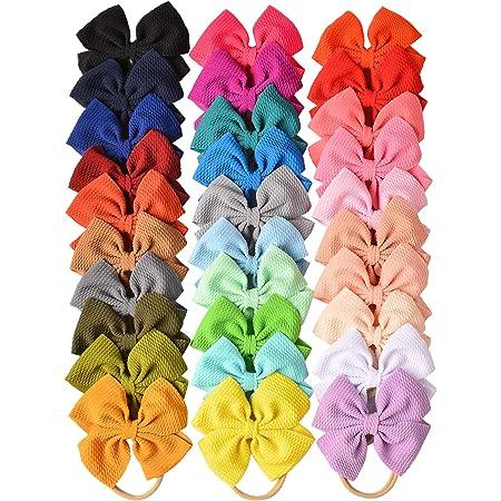 bow sets tiny headband bows bows for infants Rifle Paper Co baby girl bow bows mini nylon bows mini madeline bows