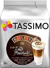 Tassimo - Cápsulas de Latte Macchiato con Baileys, café con aroma de crema de licor, Café con leche, 8unidades, 264g