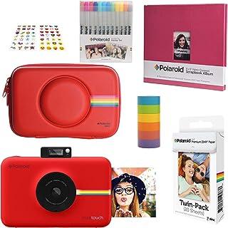 Polaroid Snap Touch Cámara Digital Instantánea (Rojo) Kit Álbum de Recortes con Estuche Eva