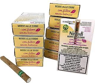 10 Paquetes de cigarrillos de hierbas Nirdosh con filtro – Programa para dejar de fumar –