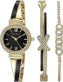 Anne Klein Women's Swarovski Crystal Accented Bangle Watch and Bracelet Set, AK/3572
