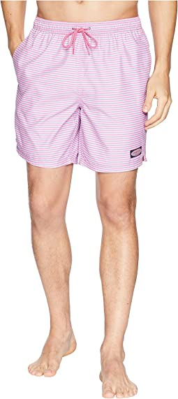 Vineyard Vines Stiles Point Stripe Chappy Swim Trunks