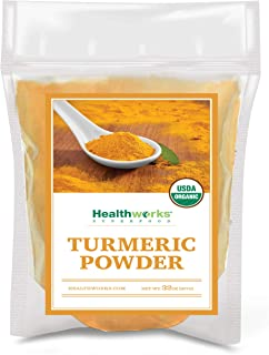 Healthworks Turmeric Powder (32 Ounces / 2 Pounds) | Ground Raw Organic | Curcumin & Antioxidants | Keto, P...