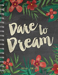 TF Publishing 2018 Academic Chalk Dare to Dream 6.5x8 Weekly Monthly Planner - July 2017-June 2018 (18-9152A)