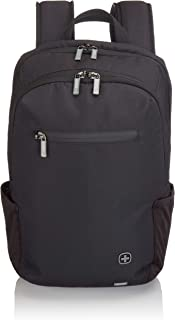 Wenger Luggage CityFriend Padded Laptop Backpack with Lockable Zippers, Black, 16-inch