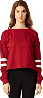Miss Chase Women's Red Boxy Top