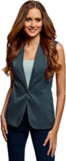 oodji Ultra Women's Classic Vest in Textured Fabric