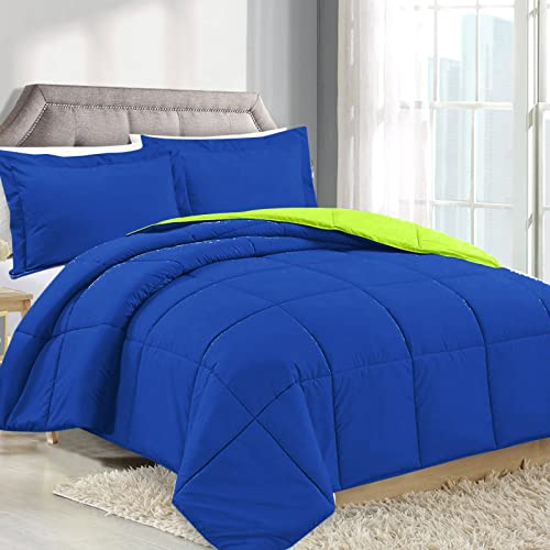 Reversible Down Comforter King Blue Amazon Com