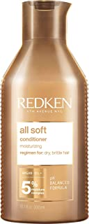 Redken All Soft Conditioner   For Dry/Brittle Hair   Moisturizes & Provides Intense Softness   With Argan Oil