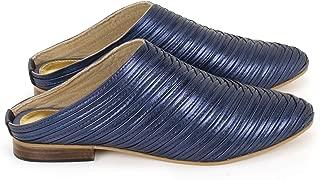 Anna Ricci Ribbed Leather Mule