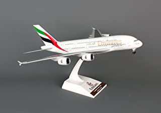 Daron Skymarks Emirates A380-800 Airplane Model Building Kit with Gear, 1/200-Scale